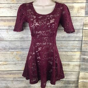 Vintage Betsey Johnson Lace Crochet Skater Dress